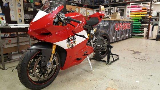 Motorrad Folierung
